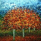 Four Fiery Trees - Alison Cowan