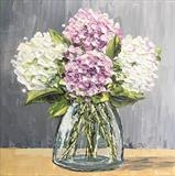 Hydrangeas on Grey - Alison Cowan
