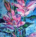 Two Pink Lilies - Alison Cowan